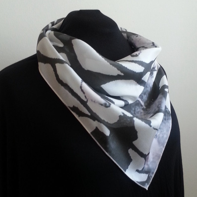 Luxurious Silk Cowl Scarf  End Of October design image 0
