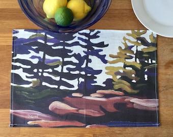 100% Linen Place Mats • Artist Print • Georgian Bay • Windswept • Set of 2