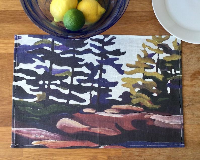 100% Linen Place Mats  Artist Print  Georgian Bay  image 0