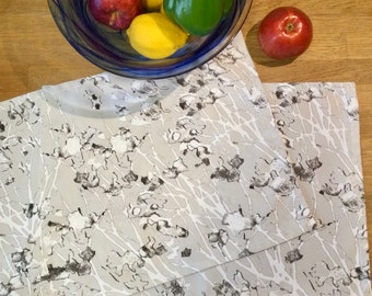 Eco Canvas Place Mats • Artist Print • Trees • End Of October • Set of 2
