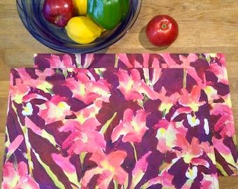 Linen Cotton Canvas Place Mats • Artist Print • Georgian Bay • Lily Garden • Set of 2