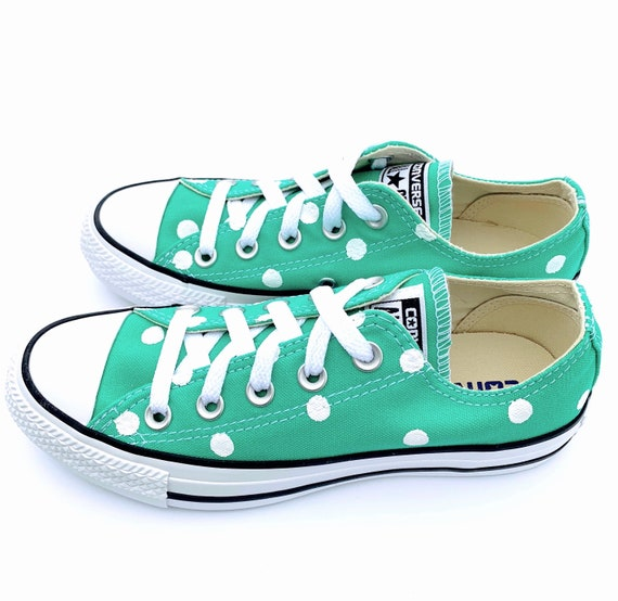 MENTA Green Converse with Hand Painted