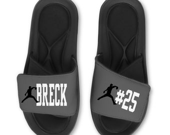 4e83d79eb Personalized BASEBALL Flip Flops Slides Sandals - Customize with Your Name