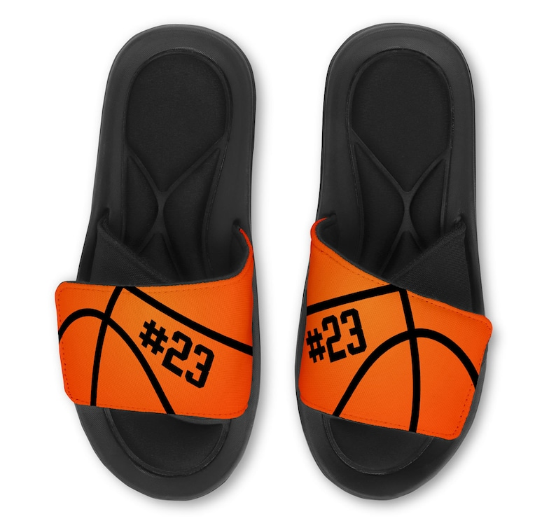 5f2788be316a4 Personalized Custom Basketball Slides Flip Flops Sandals