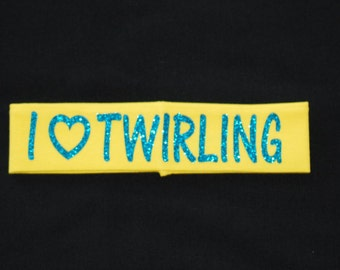 I Heart Twirling Headband