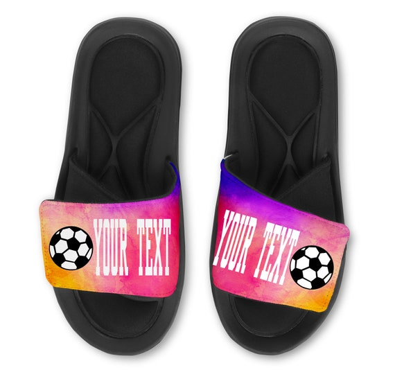 Custom Personalized Soccer Slide Sandals Add Your Name and//or Number!