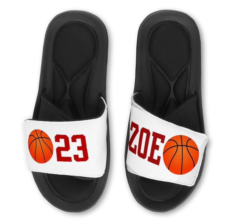 113cd14b6 Personalized Custom Basketball Slides Flip Flops Sandals