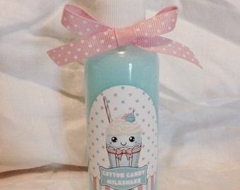 Cotton Candy Milkshake Lightweight spray-on skin softening lotion.