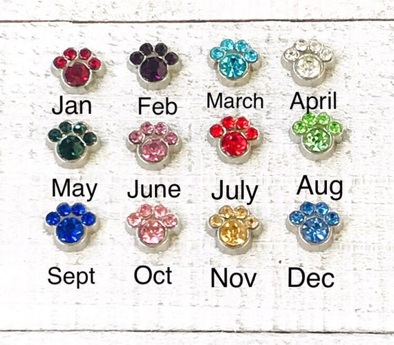 MARCH BIRTHSTONE USE WITH MEMORY GLASS LOCKET FLOATING CHARMS