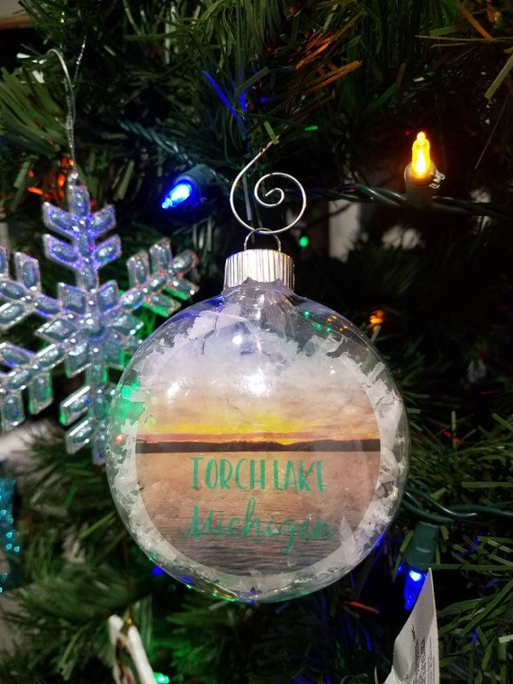 image 0 - Torch Lake Ornament Michigan Christmas State Ornaments Home Etsy
