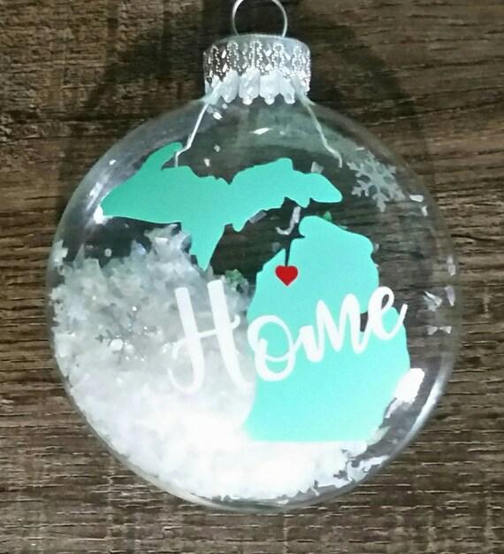 image 0 - Michigan Ornament Michigan Christmas State Ornaments Home Etsy