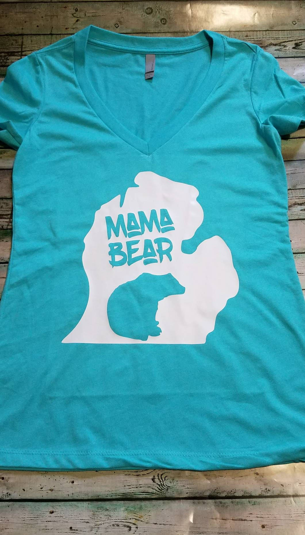 Michigan Made Mama Bear Apparel Gifts For Her Michigan Etsy