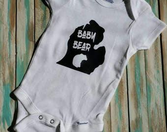 Michigan pride baby etsy michiganbaby onesie custom baby gifts for boy or girl baby shower gifts michigan negle Choice Image