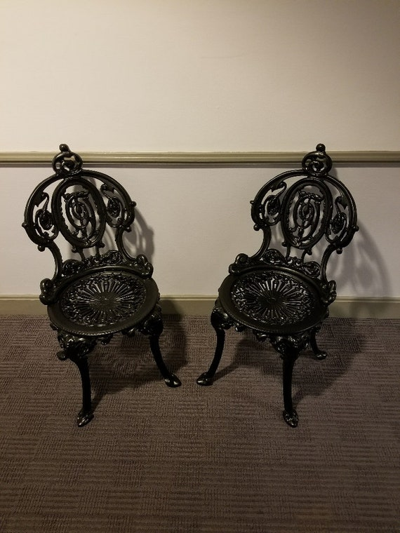 image 0 - Pair 2 French Regency Neoclassical Antique Cast Iron Etsy
