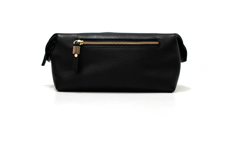 Black Leather Dopp Kit Leather Toiletry Bag Leather Shaving   Etsy 5a5fe7dcbf