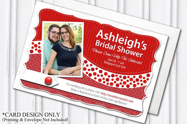 Bridal Shower Invitation Red PRINTABLE Customizable DIY | Etsy