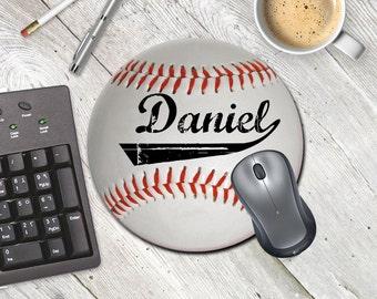 Baseball fan gift MOUSE PAD Baseball desktop decor Sports office decor
