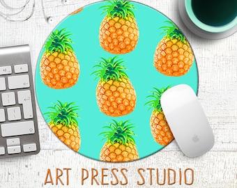 Pineapple Mousepad, Fun Fruit Mousepad, Tropical Fruit