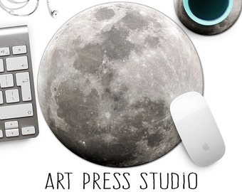 Full Moon Mousepad, Moon Mousepad, Desk Accessories, Cute Gift, Office Gift, Astrology Mousepad