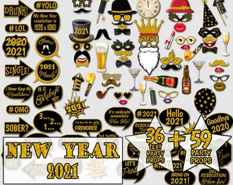 OERJU 8x6ft Happy New Year 2021 Backdrop Merry Christmas Eve Party Photography Background Family Portrait Photo Props Kids Adults Photo Wallpaper YouTube Decorat Newborn Baby Shower Banner