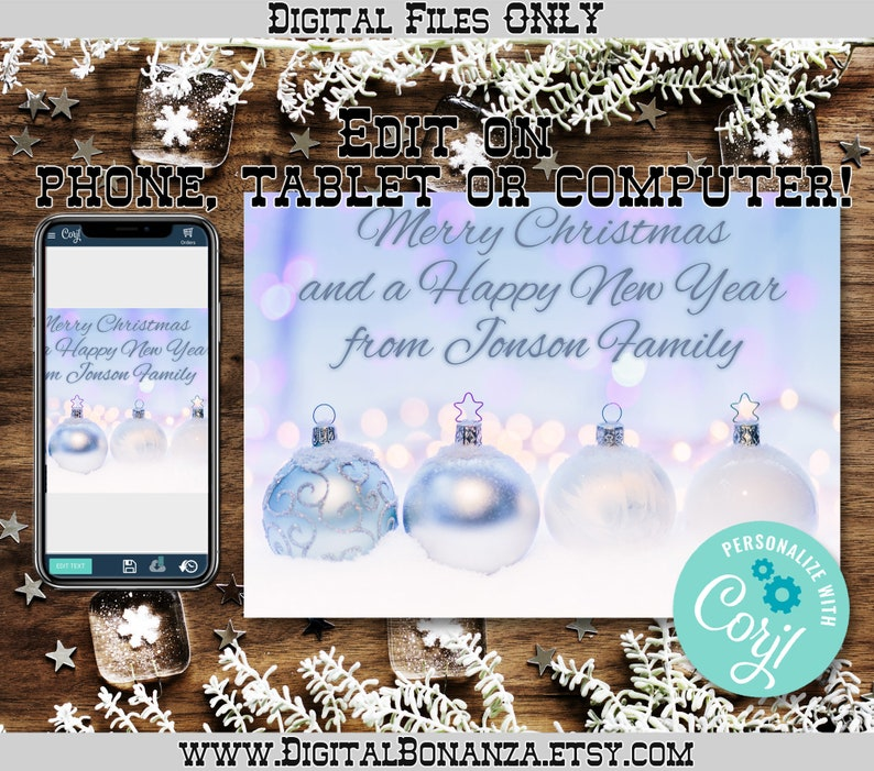 Christmas Card Personalized Template 5x7 Inch High ...
