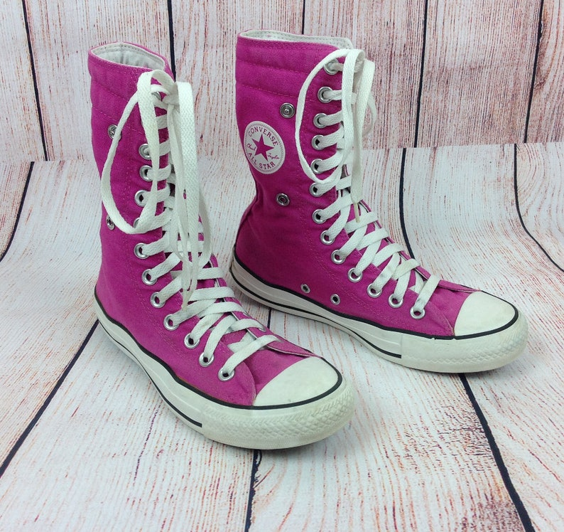2e1573fdee2c6c Converse All Star Trainers Boots Hi Top or Turn Back Cuffs