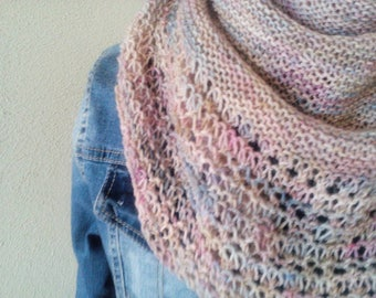 hand knit lace shawl wrap shoulderwarmer, gift for her, *ready to ship*