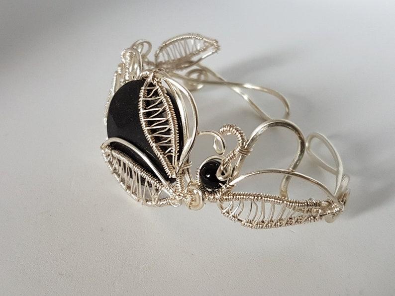 Wire wrapped bracelet Jade bracelet adjustable bracelet.