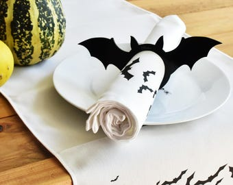 personalised bat napkin ring halloween napkin ring bat napkin holder acrylic bat napkin holder personalised hallowen halloween