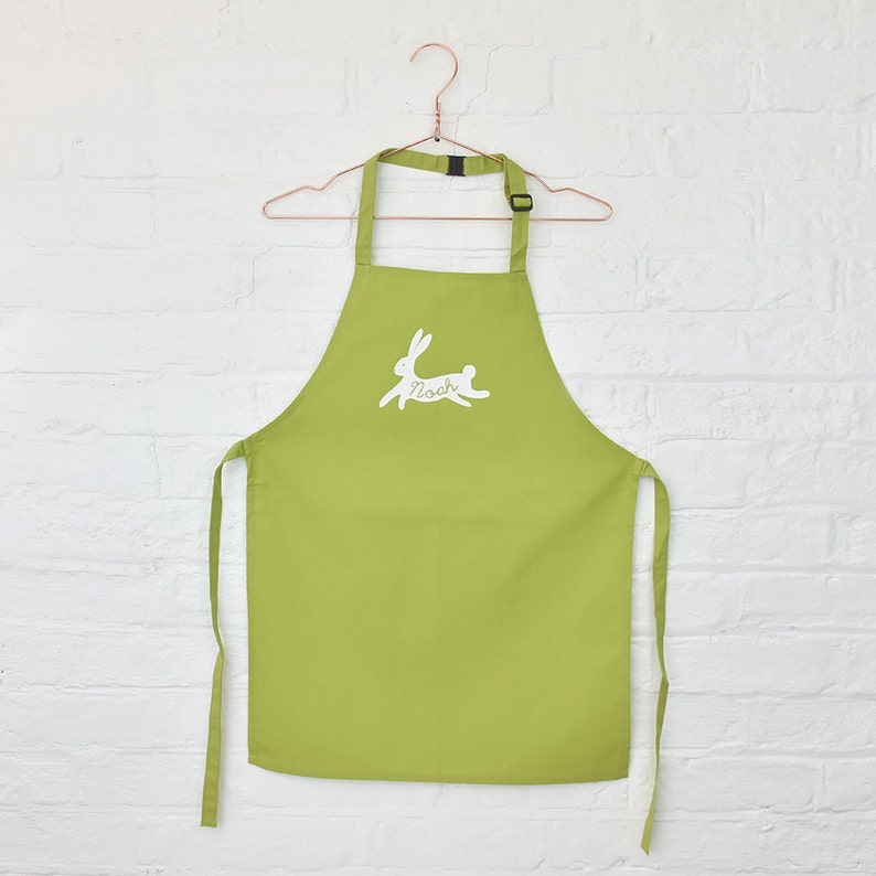 Children/'s Personalised Name Easter Bunny Apron