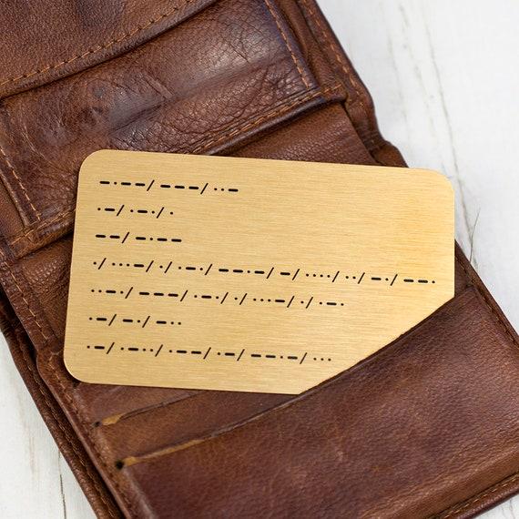 Pregnancy Announcement /'You/'re Going To Be A Grandad/' Morse Code Wallet Keepsake