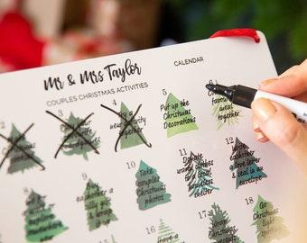 Personalised Couples Activity Reusable Chrismas Advent Calendar