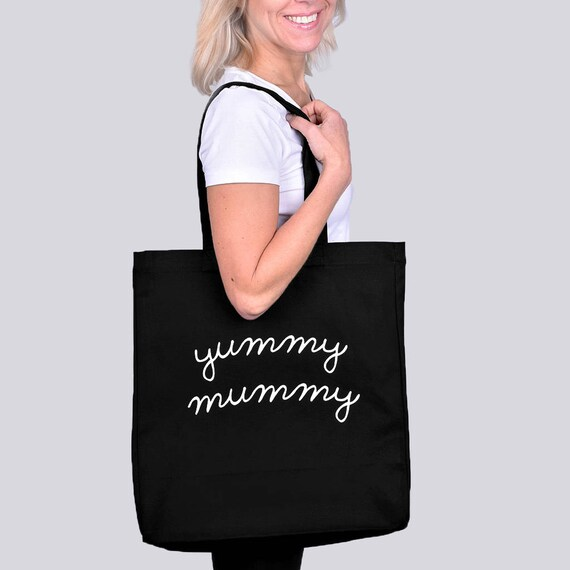 Yummy Mummy Tote Bag Shopping Bag Cotton Tote Bag Etsy