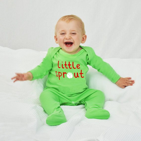 bae90703a Little Sprout Christmas Baby Sleepsuit Romper Christmas