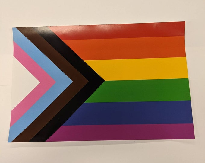 Progressive Pride Flag Window Decals - Custom Available! Perfect for home or store Windows, laptops, Water bottles & more!