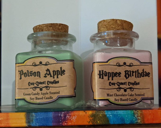 Potion Bottle Candles, Inspired by sweet treats! More aromas available!