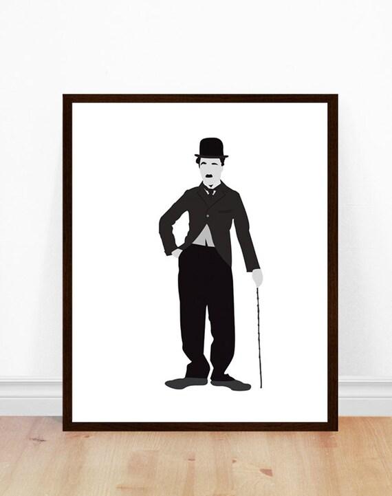 Charlie Chaplin Print Charlie Chaplin Poster Minimalist ...