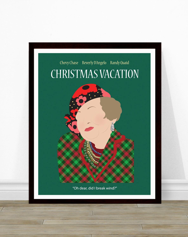 Weihnachtsferien Tante Bethany Weihnachten-Film-Poster | Etsy