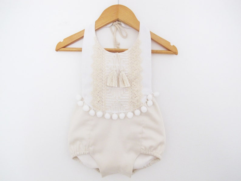 caaf5ca31c7 Ivory Baby Romper Baby Girl Clothing Beach Romper Playsuit