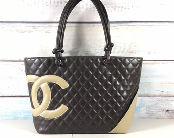 Authentic Chanel bag. Chanel shoulder bag. Vintage Chanel bag. Chanel tote  bag. Chanel quilted bag. 04f28d8520ea5