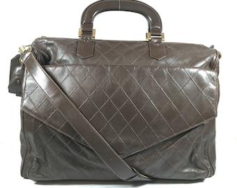 Authentic Chanel bag. Chanel travel bag. Chanel vintage bag. Chanel duffle bag.