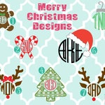 Adult Christmas monogrammed Long Sleeve shirt - Santa shirt - Christmas Monogram - Gingerbread monogram - Candy Cane - Monogram shirt - Tree