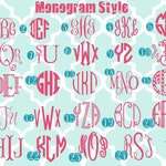 White DIY monogram iron on decals - monogram - DIY - monogrammed - heat transfer decals - heat transfer monogram -monogrammed - iron on
