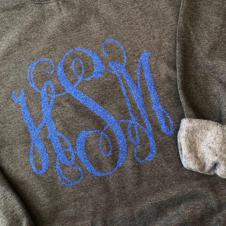 Adult Monogrammed Sweatshirt  custom sweatshirt  monogram image 0