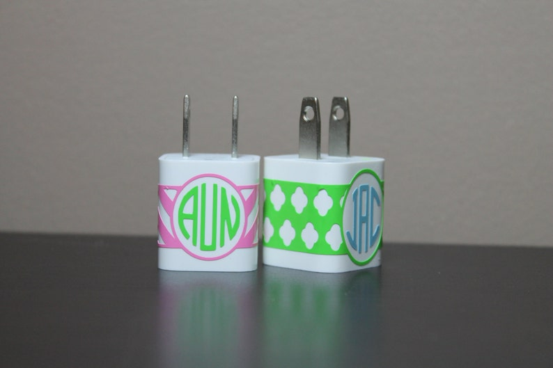 Iphone charger wrap  monogrammed wrap  monogram charger wrap image 0