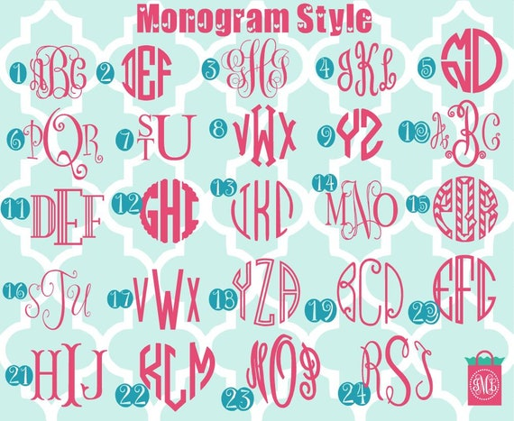 HEAT TRANSFER DECAL FREE SHIPPING DIY MONOGRAM IRON ON VINYL DECAL A7