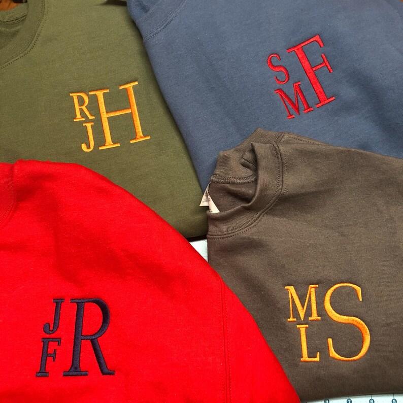 Monogrammed Sweatshirt  monogram sweatshirt  adult image 0