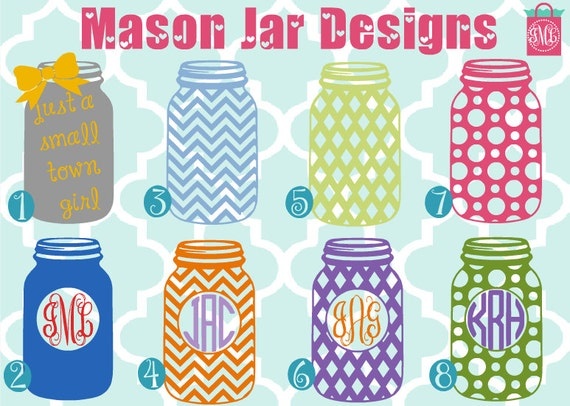 mason jar monogram mason jar custom shirt personalized etsy