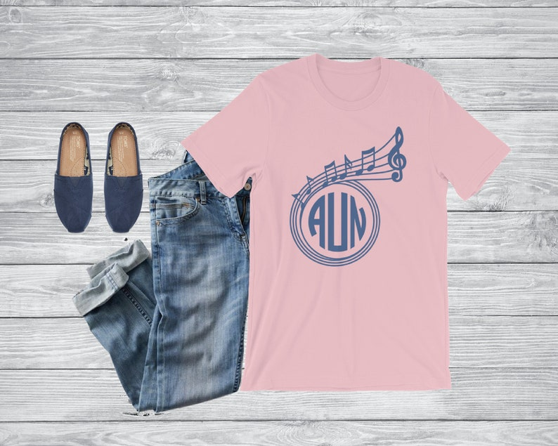 Musical Monogram T-Shirt  Monogrammed Teacher Gift  Music image 0