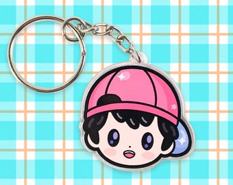 "Ness from Earthbound 1.5"" Acrylic Charm Keychain"